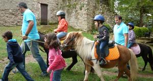 Passejada amb ponis pel Dalmau