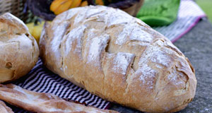 Elongated rustic bread