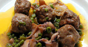 Meatball with cuttlefish
